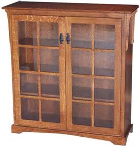 Mission Style Bookcases Mission Medium Bookcase With Two Doors Indiana Amish