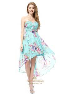 Floral Prom Dresses Floral High Low Prom Dresses Aqua Blue Floral Dress