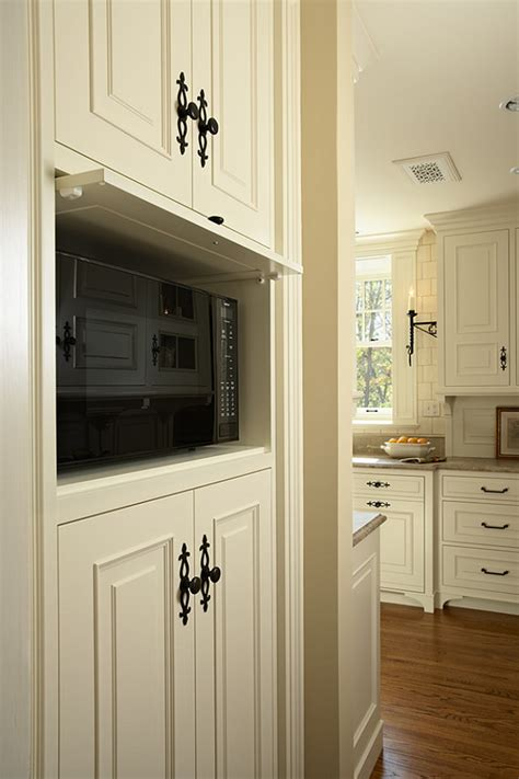 microwave in kitchen cabinet white kitchen home bunch interior design ideas