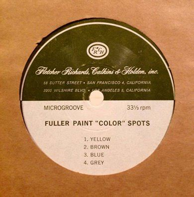 ken nordine fuller paint color spots 7 dj food