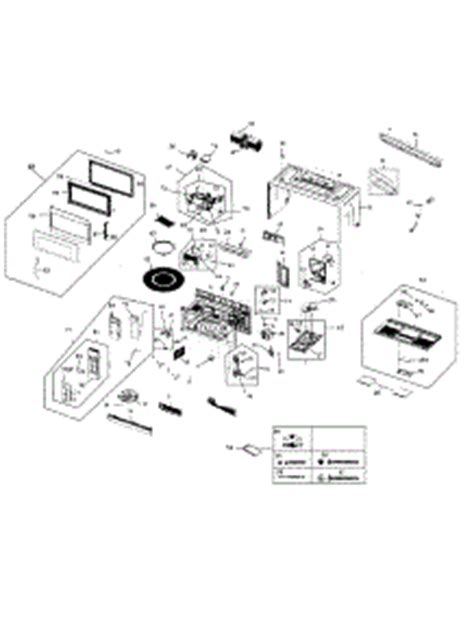 samsung microwave parts diagram parts for samsung smh1816s xaa 0000 microwave
