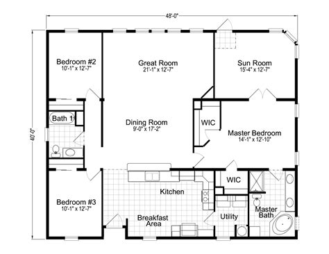 House Design Blueprints | wellington 40483a manufactured home floor plan or modular