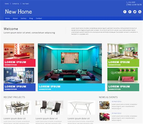 Home Interior Websites by New Home A Interior Architects Mobile Website Template By