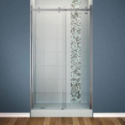 Maax Sliding Shower Doors by Maax Halo 48 In X 78 3 4 In Semi Framed Sliding Shower