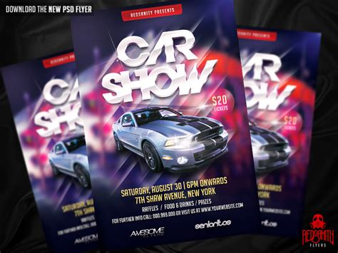 Car Wallpapers Free Psd Web Templates by Car Show Flyer Template Psd Free Driverlayer Search Engine