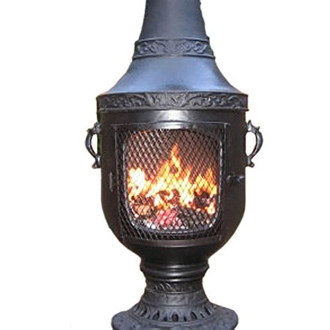 chiminea gas chiminea outdoor fireplace gas and wood burning venetian