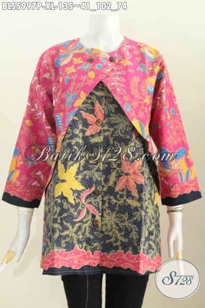 Harga Rompi Batik by Pakaian Blus Batik Halus Model Keren Kombinasi Rompi