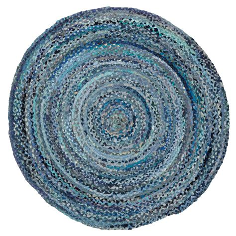 blauer runder teppich ring around the ribbon blue rug the land of nod