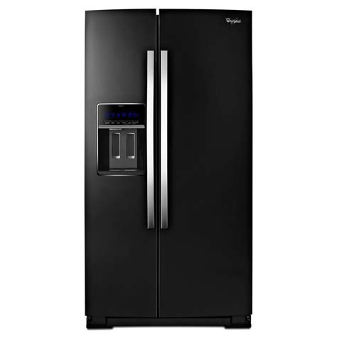 Whirlpool Cabinet Depth Refrigerator by Shop Whirlpool 19 9 Cu Ft Counter Depth Side By Side