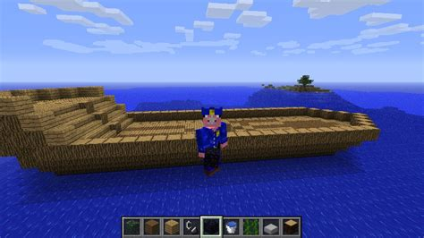 minecraft boat survival my minecraft boat minecraft project