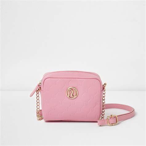 Griliy Bag pink ri embossed mini crossbody bag bags bags