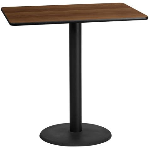 X Bar Table Flash Furniture 30 X 48 Rectangular Walnut Laminate Table Top With 24 Bar Height