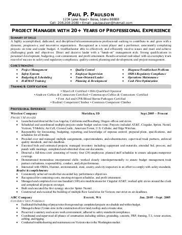 telecom project coordinator resume exles sales trainer front runner resume writing