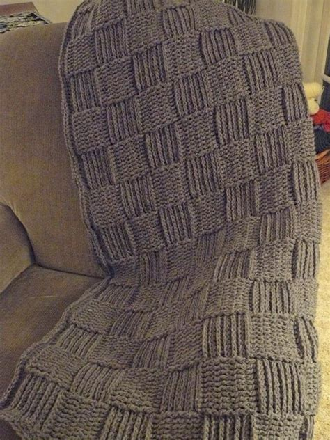 knitted basket weave afghan pattern basketweave crocheted throw free pattern to go with