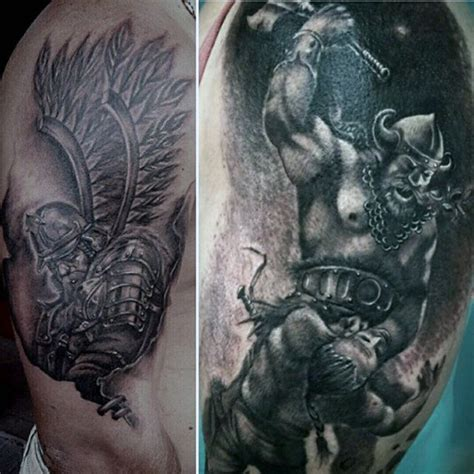 viking warrior tattoos 100 warrior tattoos for battle ready design ideas