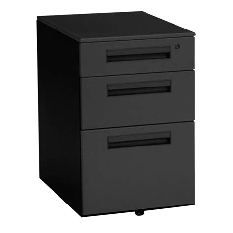 balt black moblie storage metal file cabinet with 3