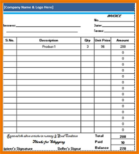 work invoice template free hardhost info