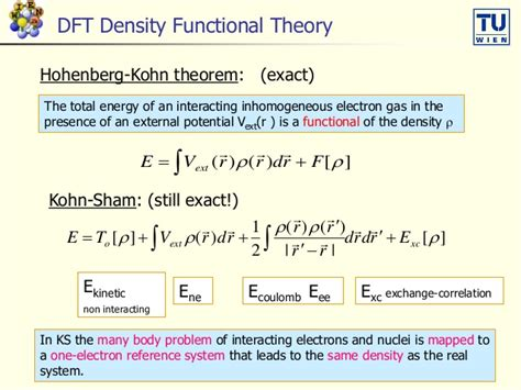 Density Functional Theory Dft And The Concepts Of The