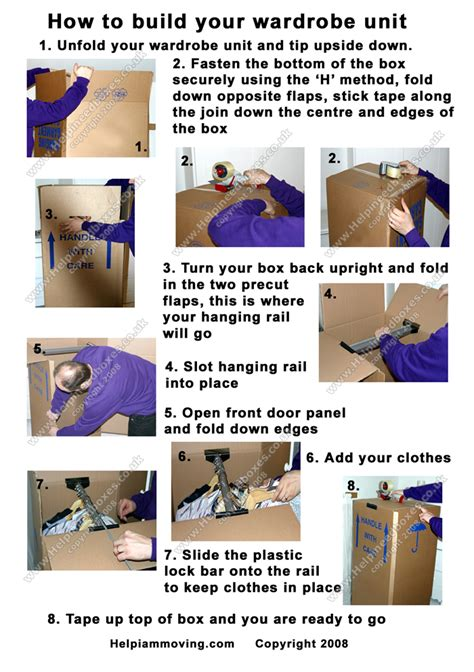 how to assemble wardrobe box how to guides for moving house
