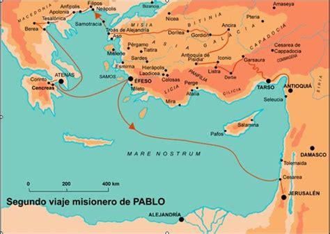 cuarto viaje misionero de pablo mapa m 225 s biblia viajes del ap 243 stol pablo mapas