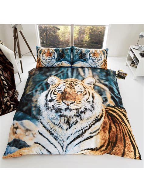 Bed Cover Set 3d Uk 160x200 tijger dekbedovertrek eenpersoons tijgers dekbed