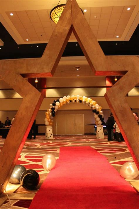 Red Decor hollywood star amp red carpet indianapolis casino nights