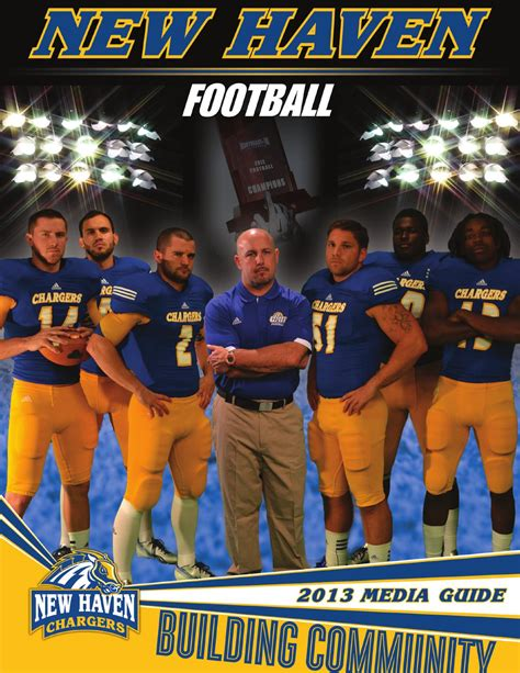 unh chargers football 2013 new football media guide by new chargers