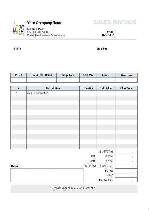numbers invoice template invoice template in excel 10 results found