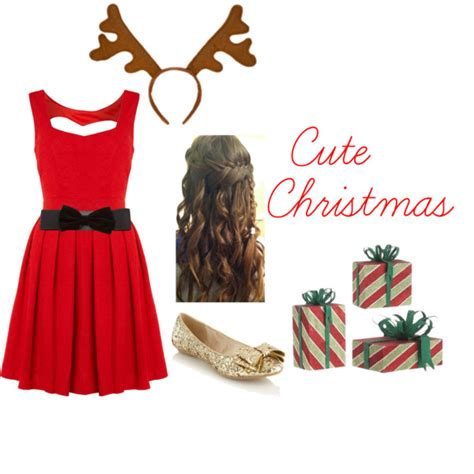 cute christmas outfit polyvore