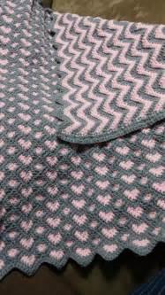 sweetheart reversible ripple afghan pattern crochetnfrog sweatheart ripple afghan i made for my
