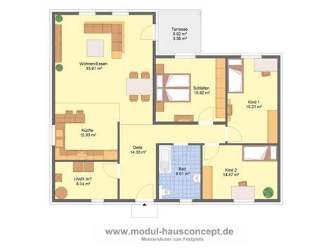 Grundrisse Für Bungalows by Bungalow Grundrisse 4 Zimmer 3d Raum Und M 246 Beldesign