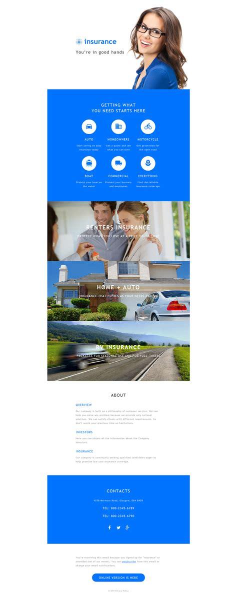 insurance responsive newsletter template 55618