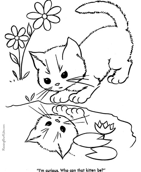 coloring pages of puppies and kittens cute kittens and puppies coloring pages