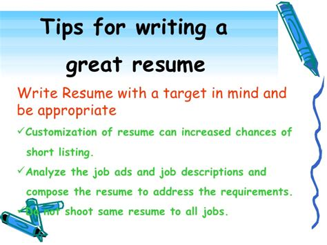 Writing A Great Resume by Effective Resume Writing