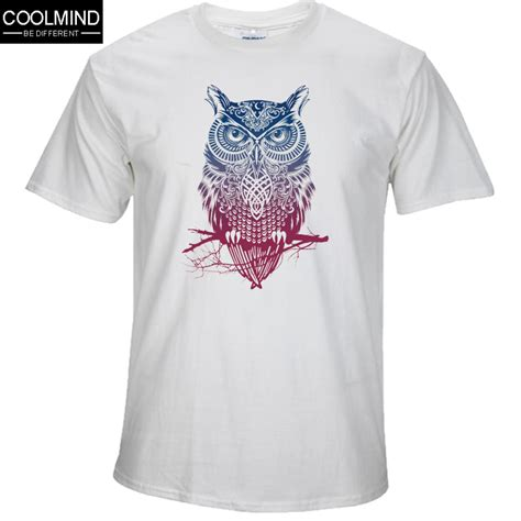 Owl Printed T Shirt fashion sleeve owl printed tshirt cool