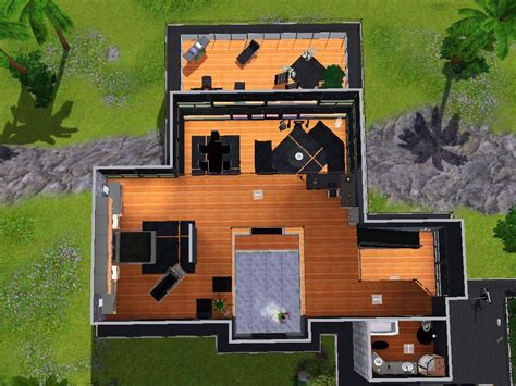 Upstairs Living Floor Plans mod the sims the bachelor pad