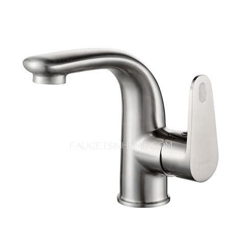 stainless steel bathroom faucets smooth stainless steel bathroom faucet single hole