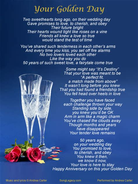 Anniversary Song At Wedding by Original 50th Wedding Anniversary Song From Song Legacy