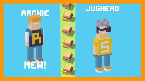 how to get all the road mystery characters cross y unlock jughead with archie his friend crossy road new