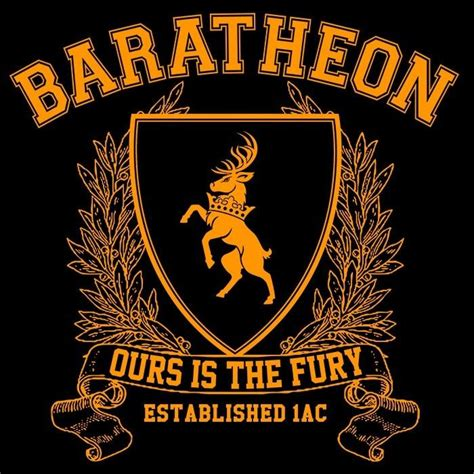 Hoodie Zipper Ours Is The Fury Baratheon 1 baratheon s fitted t shirt we geeks