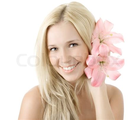 why do the blonde women on young and restless have darker hair beautiful young blonde woman with lily flower smile