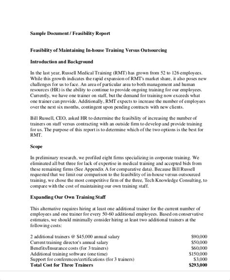 feasibility report template free 11 sle feasibility reports sle templates