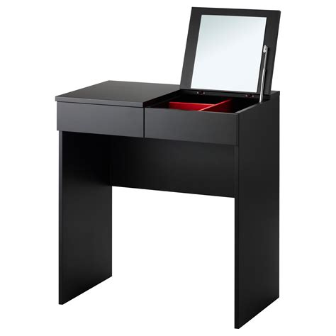 Black Vanity Table Ikea Brimnes Dressing Table Black 70x42 Cm Ikea