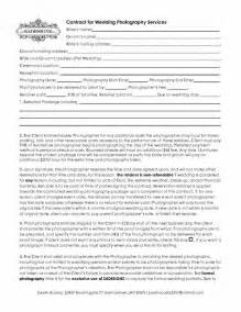 Agreement Letter For Photography 5 Free Wedding Photography Contract Templates