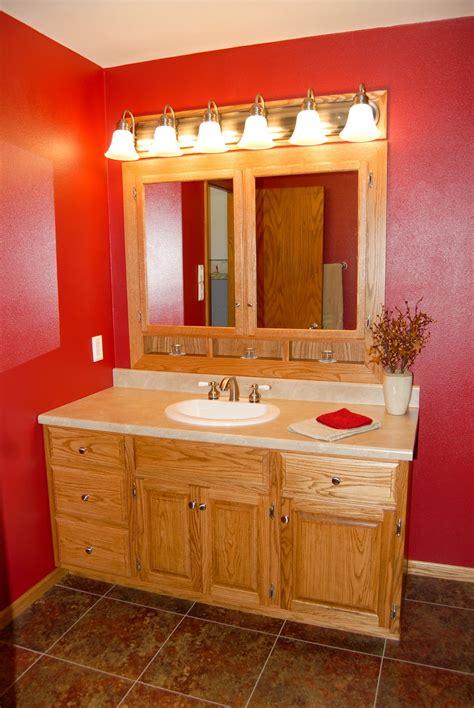lg custom woodworking custom  oak bathroom vanity