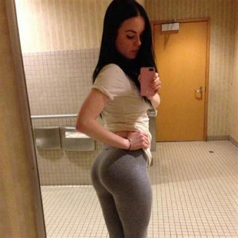 bathroom big ass thank god for girls in yoga pants