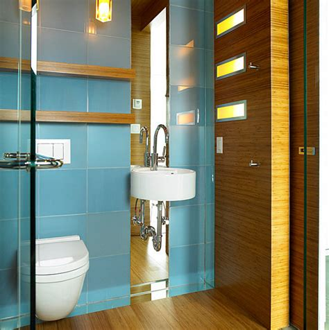 Tiny Bathroom Design Ideas That Maximize Space Modern Retro Bathroom