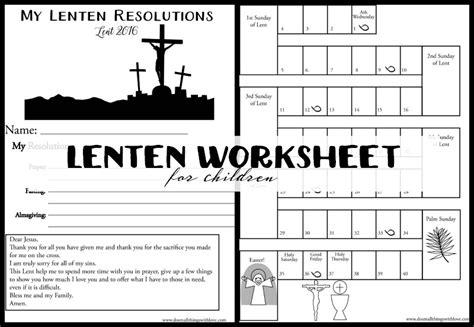 Lent Worksheets by Lent Worksheets Desirbrilliancecream