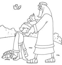 King David Outline by Samuel Anointing David In The Story Of King Saul Coloring Page Netart