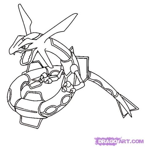 Rayquaza Coloring Pages free mega rayquaza coloring pages